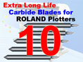 10 pack 45 degree Carbide Vinyl Cutter Blades (Free Shipping)