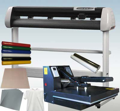 "15 X15 Heat Press & 34"" Vinyl Cutter Plotter Starter Package"